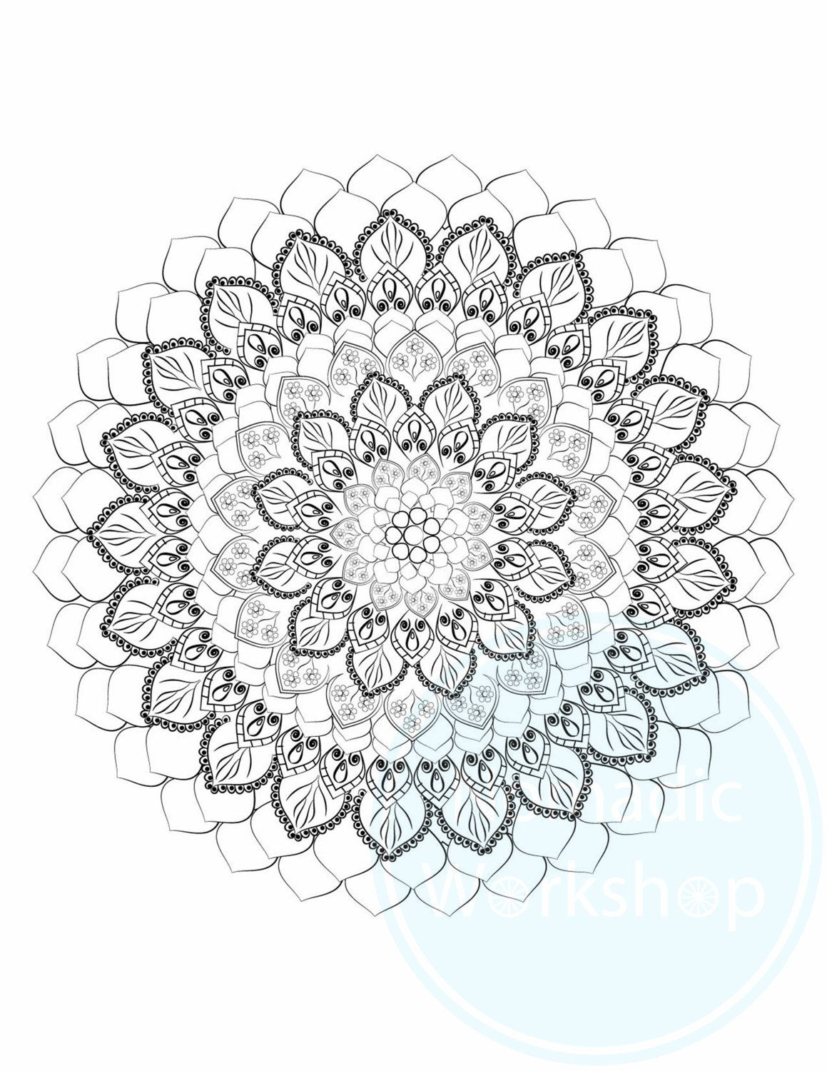 mandala 1 free coloring page coloring page for adults coloring