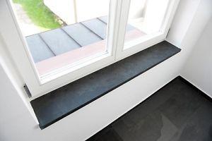 details zu fensterbank fensterb nke fensterbretter schiefer negra schwarz fensterbrett. Black Bedroom Furniture Sets. Home Design Ideas