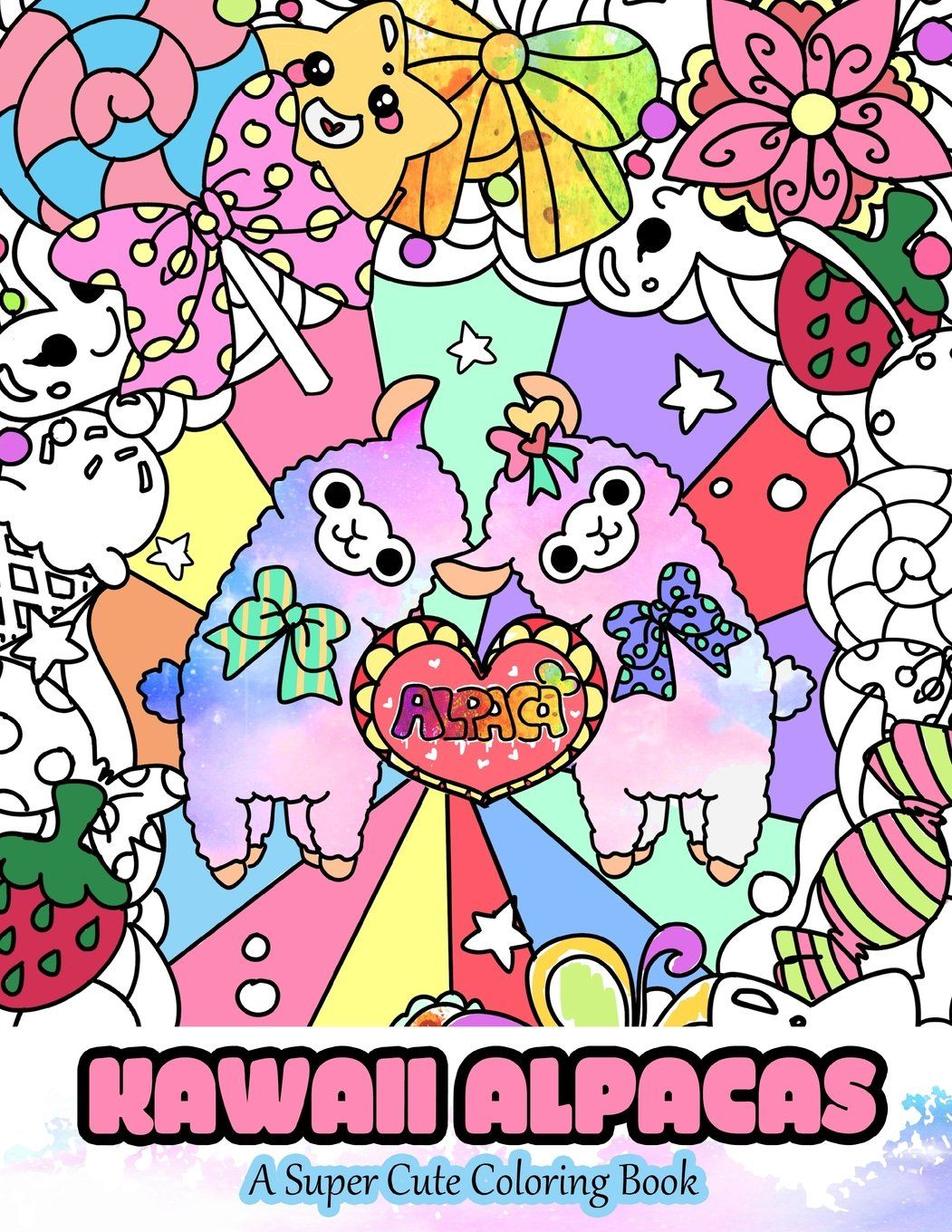 Kawaii Alpacas. Mindful Coloring Books http://amzn.to/2iiAp6u Libro ...