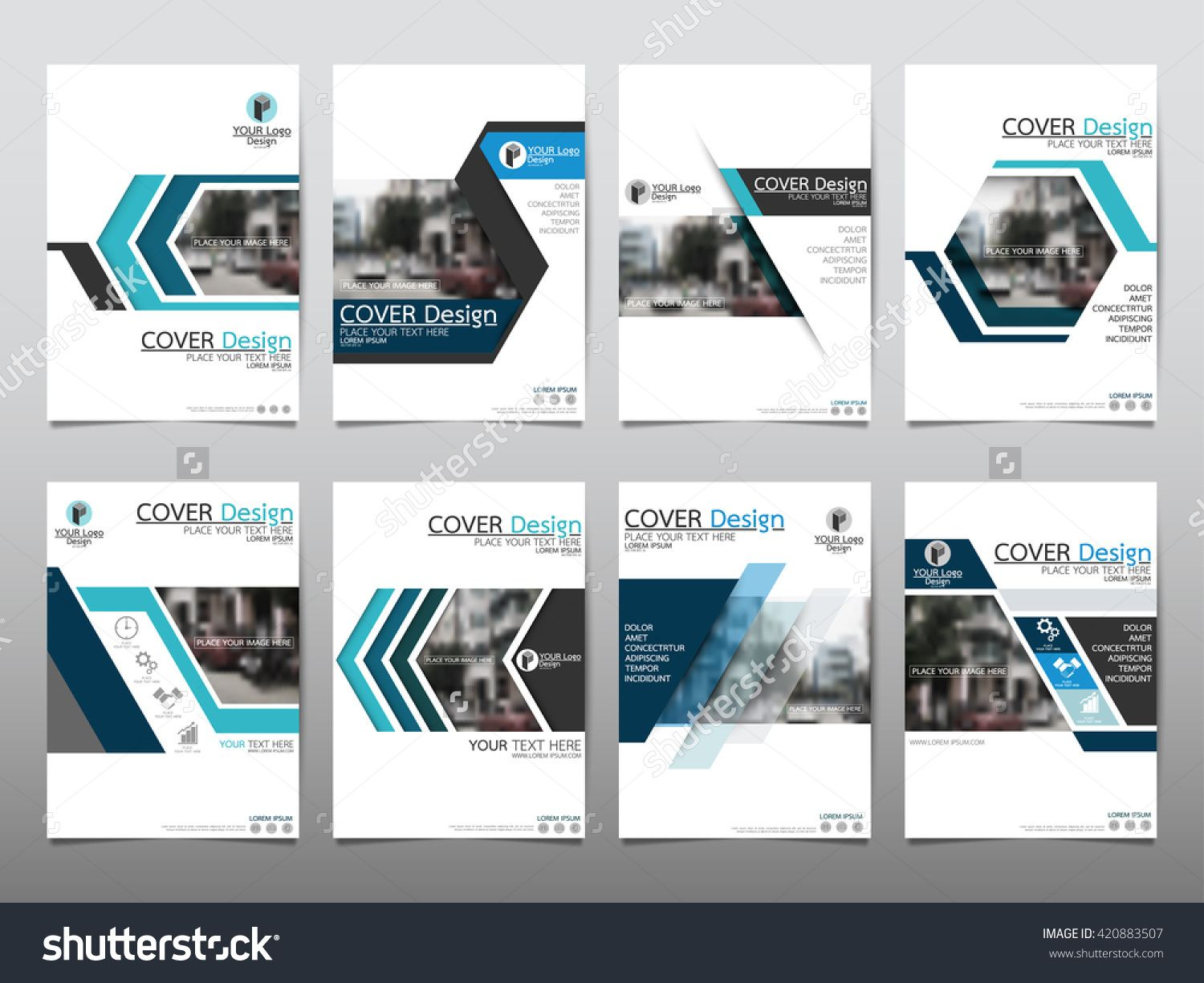 Blue Set Technology Annual Report Brochure Flyer Design Template
