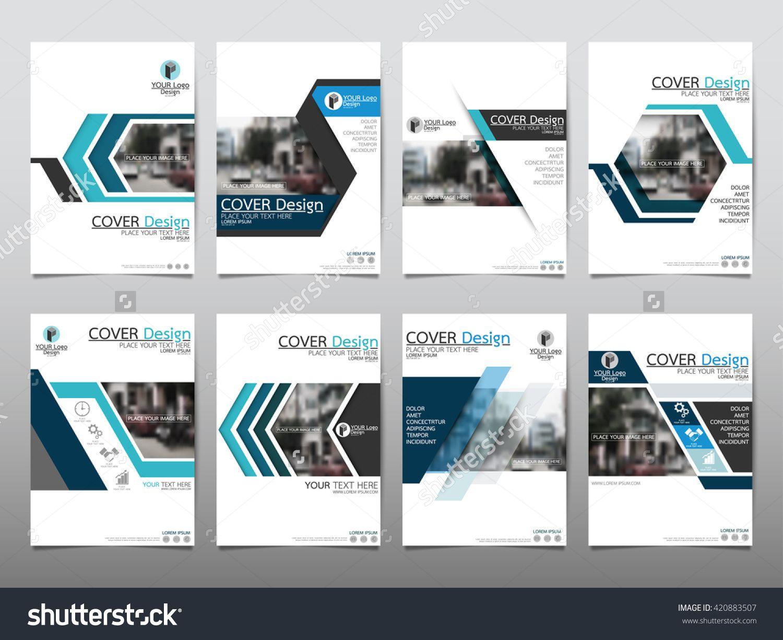 Blue Set Technology Annual Report Brochure Flyer Design Template ...