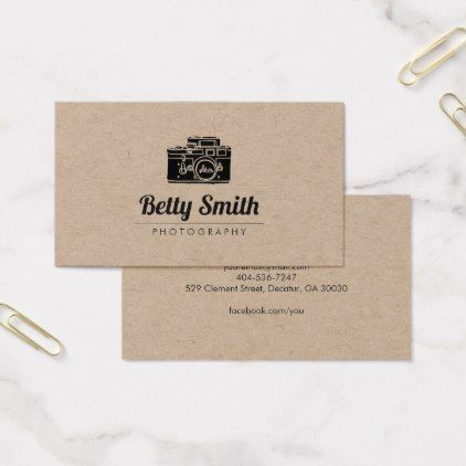 Vintage camera photography businesscard kraft business card reheart Images
