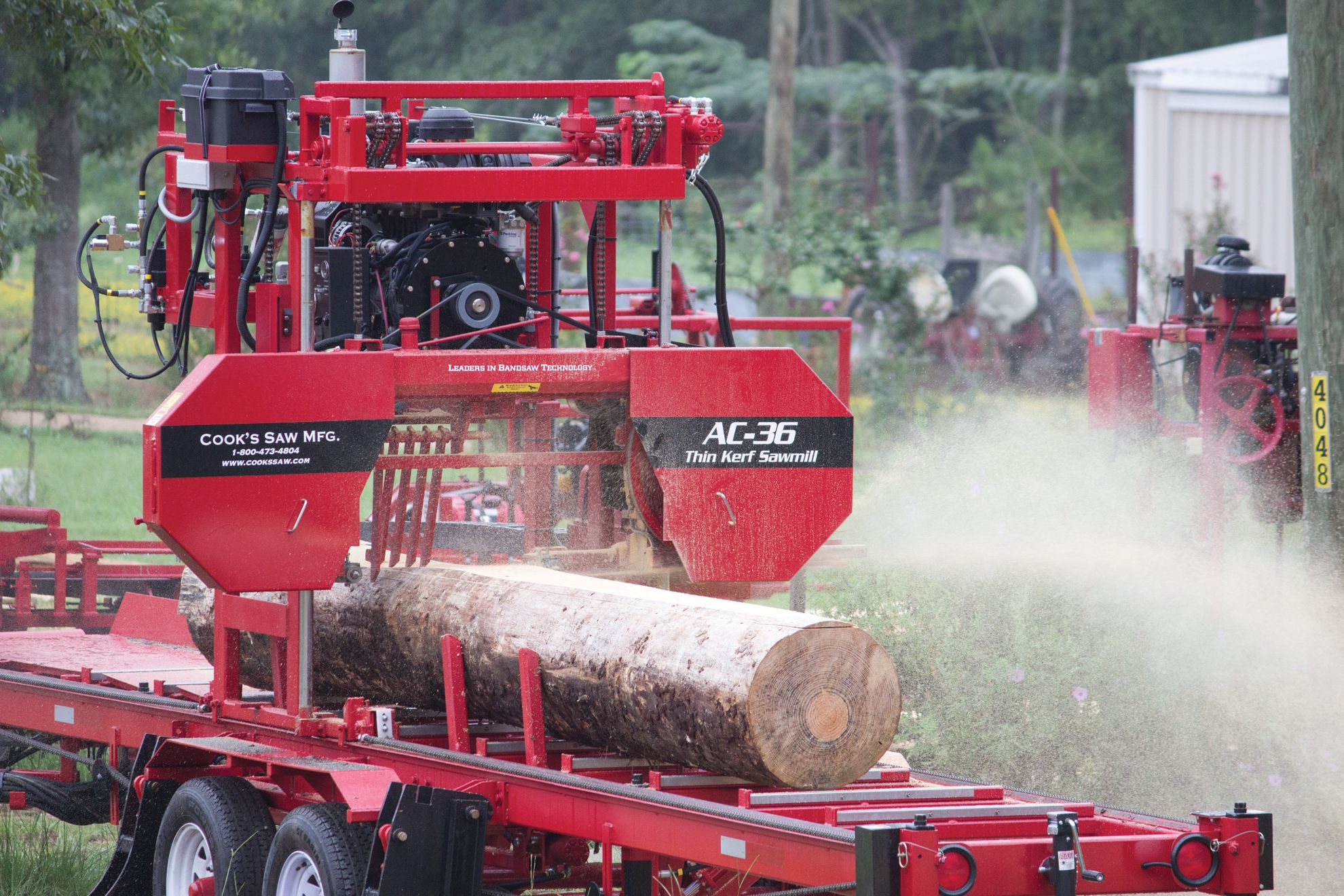 Cooks AC36 portable sawmill in action | Portable Sawmill Equipment