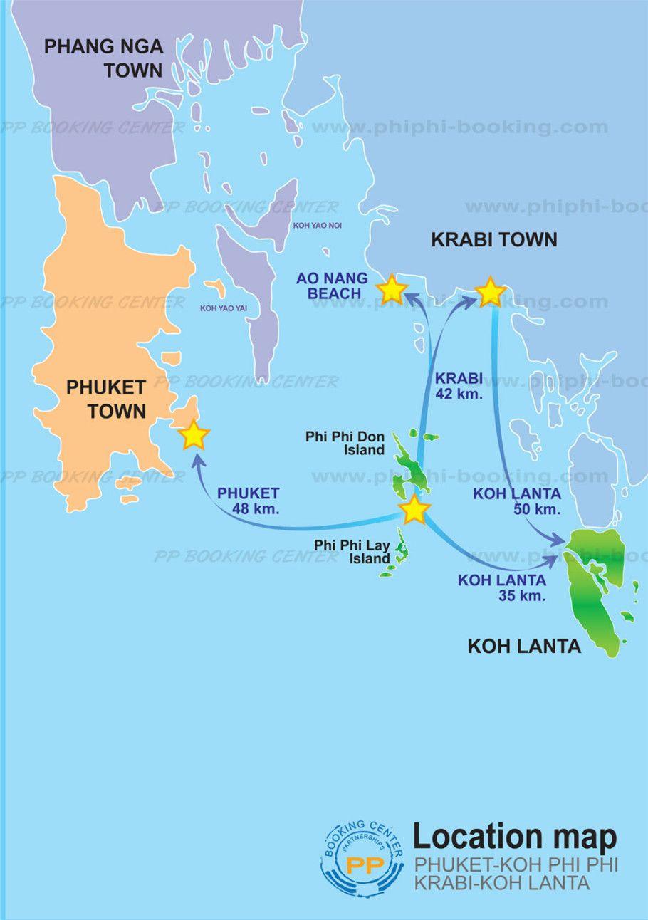 Map Koh Lanta Koh Lanta Thailand Honeymoon Krabi Thailand