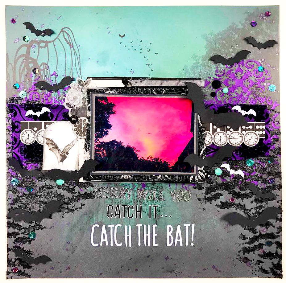Catch The Bats October Craft Kit Sbook Layout