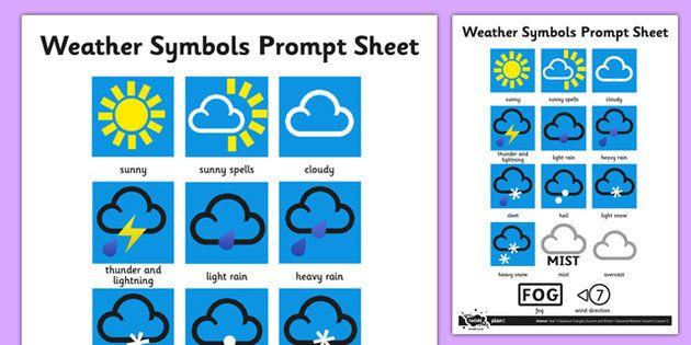 Weather Symbols Activity Sheet Weather Symbols Weather Symbols Activities Weather Chart