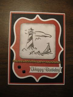 Lighthouse Masculine Birthday Card, Part 11 of Recent Cards