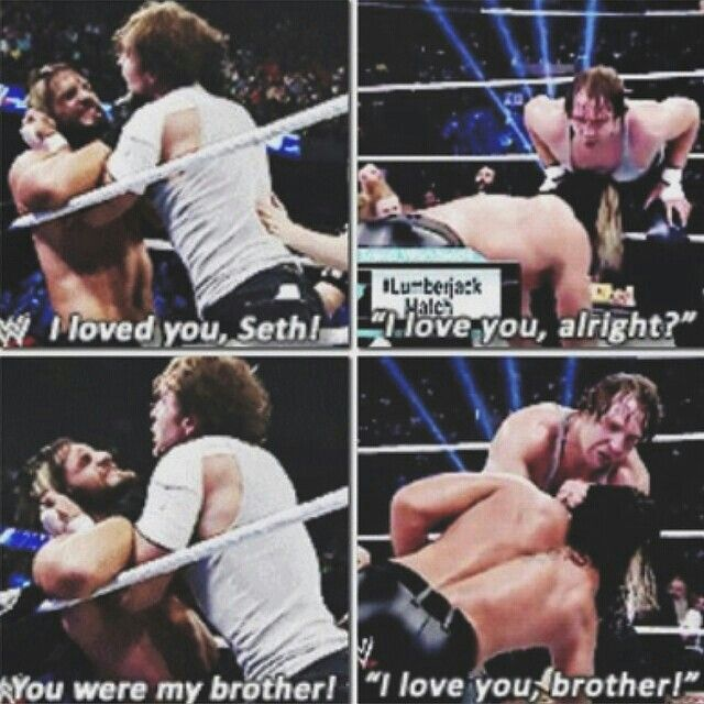 You could tell they still cared about each other even though they were supposed to be enemies, but they're also friends outside of WWE so..