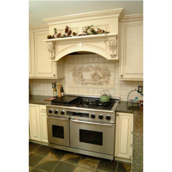Kitchen Wood Valance: Wood Range Hoods, M-Series Arched Valance Mantle Style