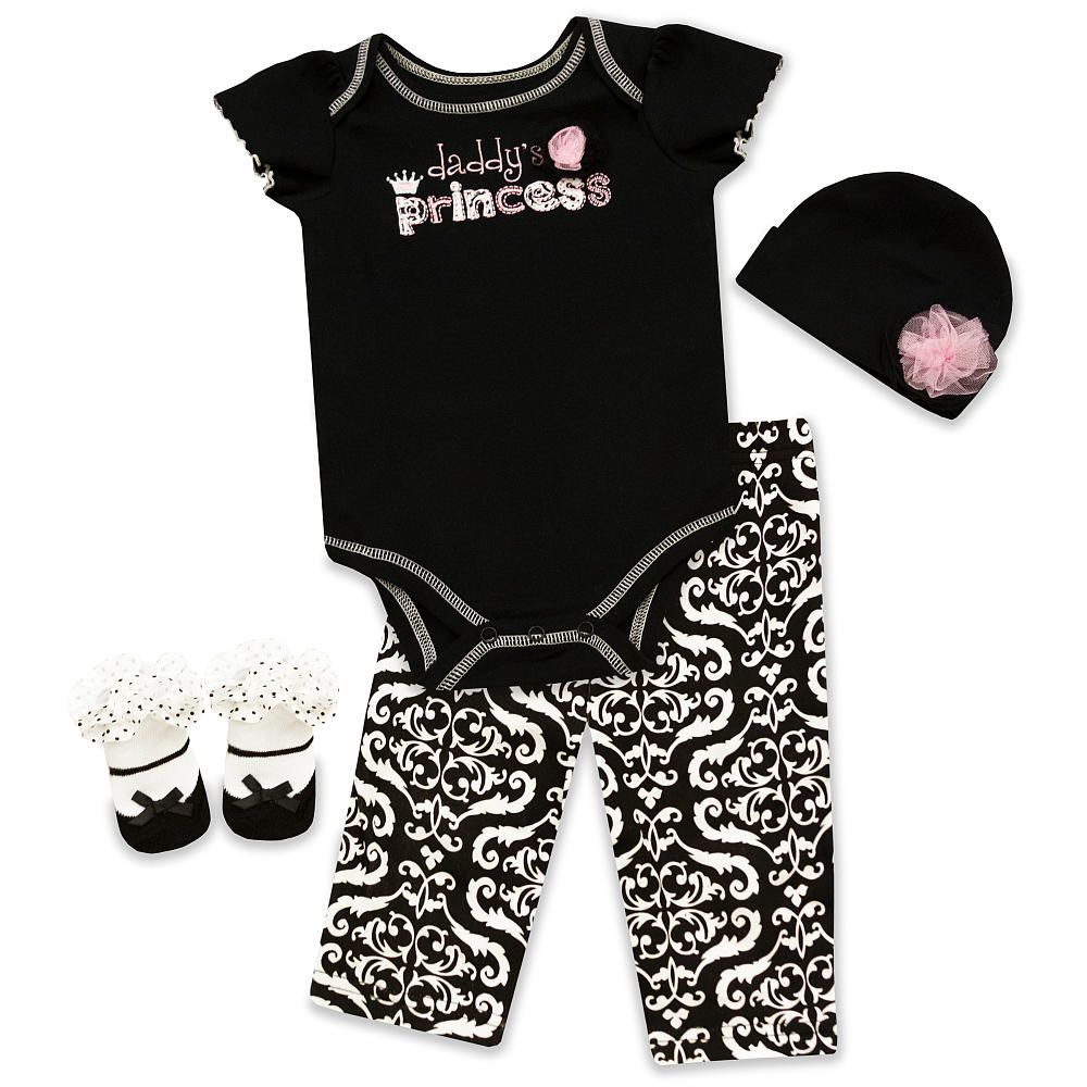 61ce2e80146a Baby Essentials Daddy s Princess 4 Piece Layette Set - Pacesetter ...