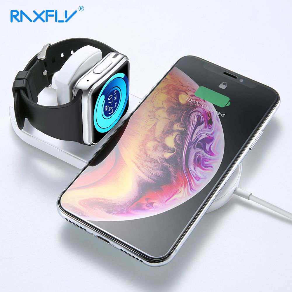 RAXFLY Wireless Charger For iPhone X 8 XR XS Max For Apple i