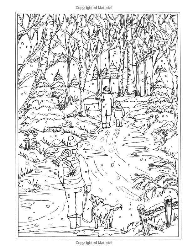 winter wonderland coloring pages Amazon.com: Creative Haven Winter Wonderland Coloring Book (Adult  winter wonderland coloring pages
