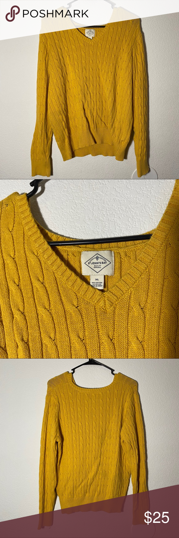 Photo of [ st. john's bay ] chunky yellow sweater i love this color :-) super cute and …