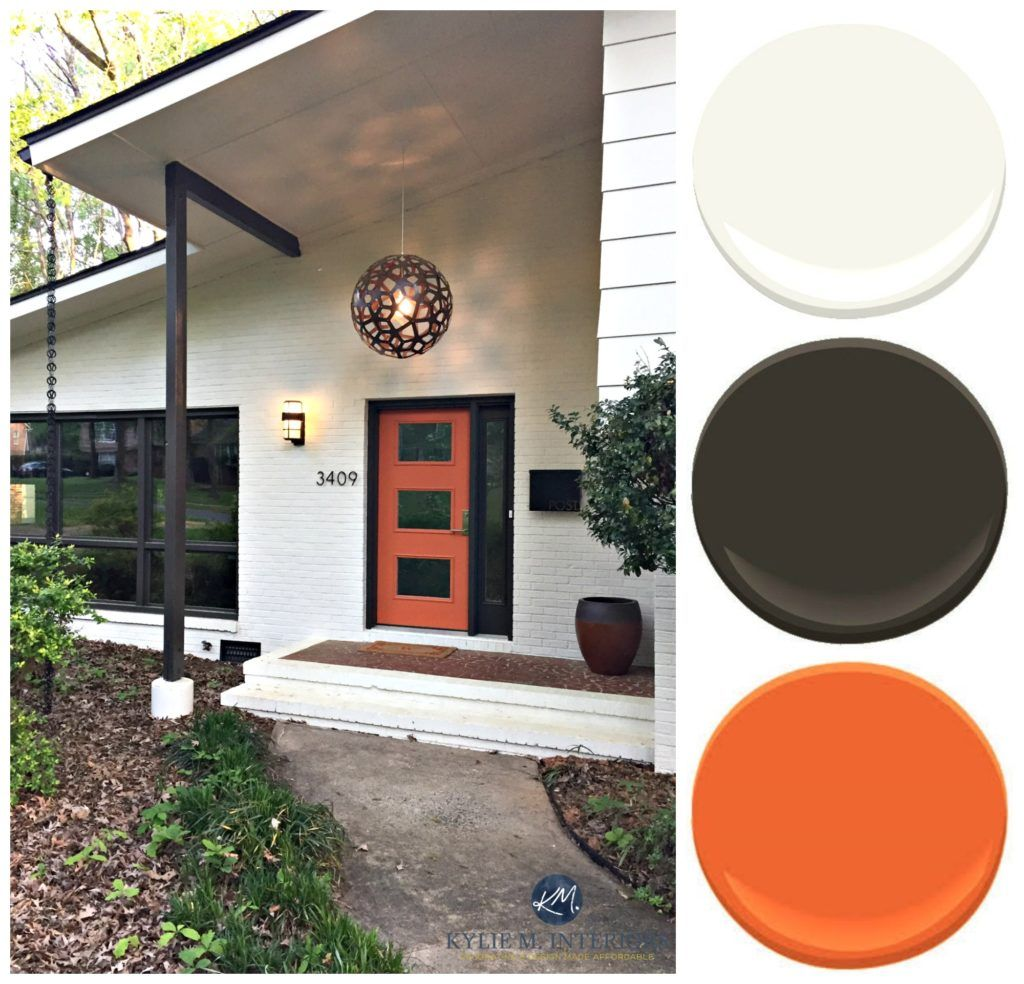 A stunning exterior makeover painted brick and more house pinterest mid century style for Exterior home design consultant