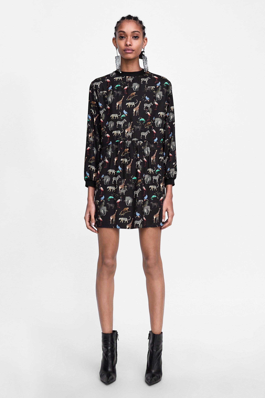 b1da2bde1 Image 1 of ANIMAL PRINT DRESS from Zara | Styled | Femme in 2018 ...