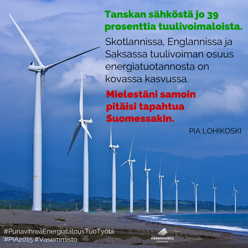 Miksi Suomen pitäisi olla Tanskaa, Saksaa tai Skotlantia huonompi? Tuulivoimaa, kiitos.