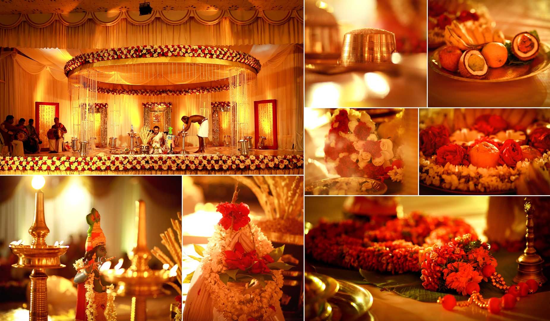 My wedding stage and kerala wedding for Background decoration for indian wedding