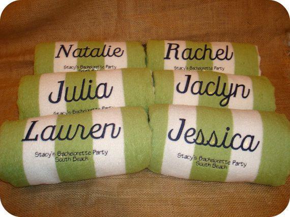 beach towels - Monogrammed Beach Towels