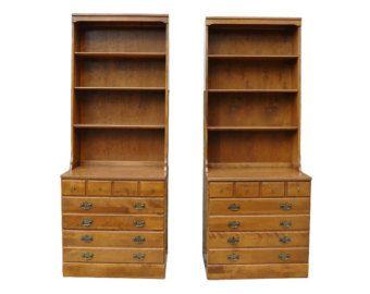 Vintage Ethan Allen Bookcase Tops And Base Ethan Allen Furniture