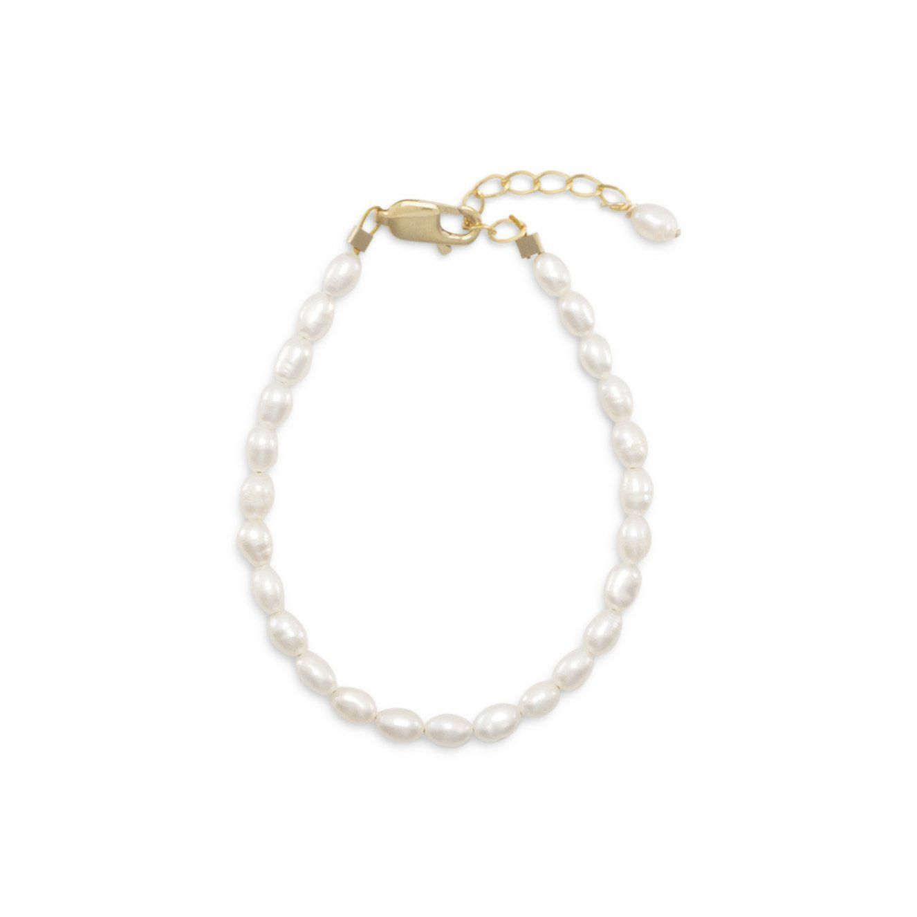Gold filled cultured freshwater rice pearl bracelet pearl bracelet