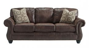 Breville Series Stationary Sofa in Espresso Brown