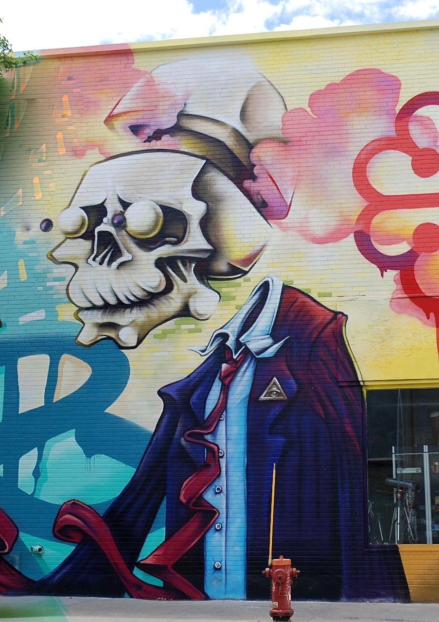 The Master Puppeteer street art in Montreal. Zippertravel.com Digital Edition
