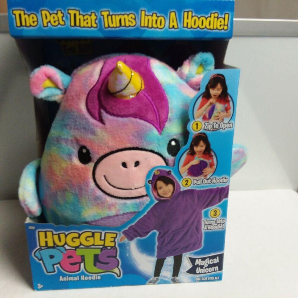 Huggle Pets Animal Hoodie Aubrey The Unicorn Multi Color Children