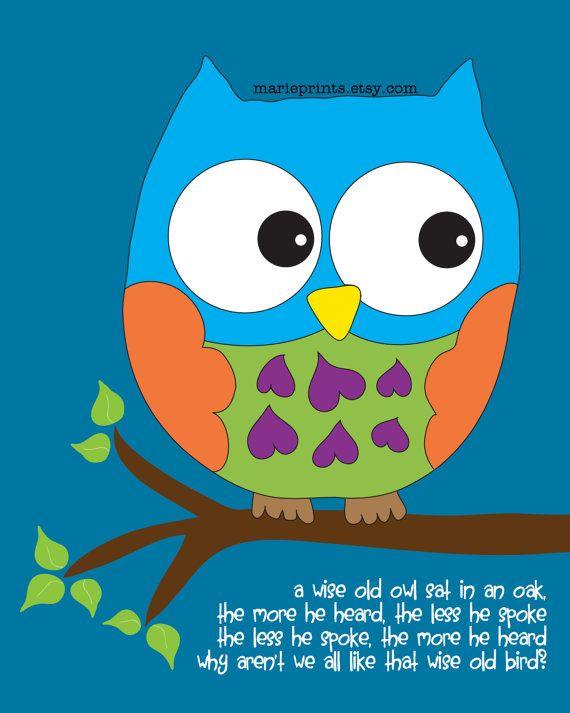 Cute Wall Art Owl Wall Art Owl Nursery Printable Wall Art