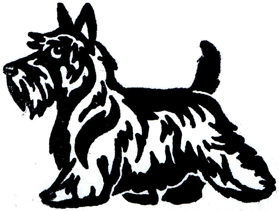 Scottish Terrier Cartoon Clipart