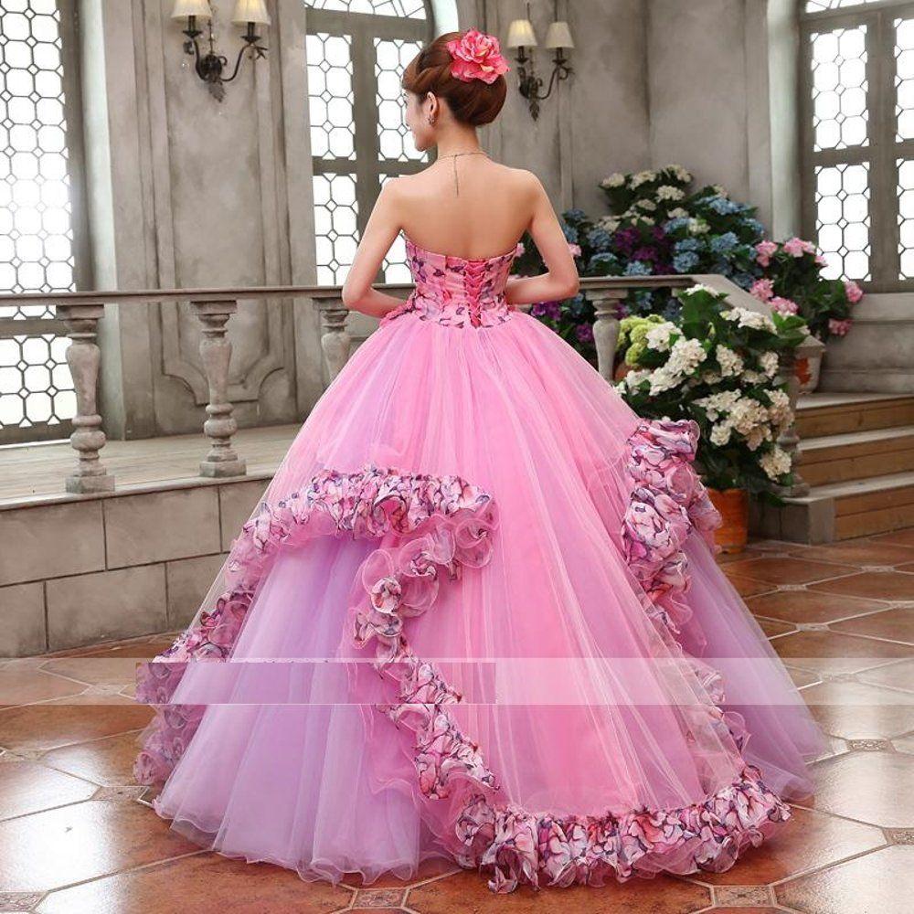 Jual 11 Pink Bunga Gaun Pengantin Baju Pengantin Wedding Gown