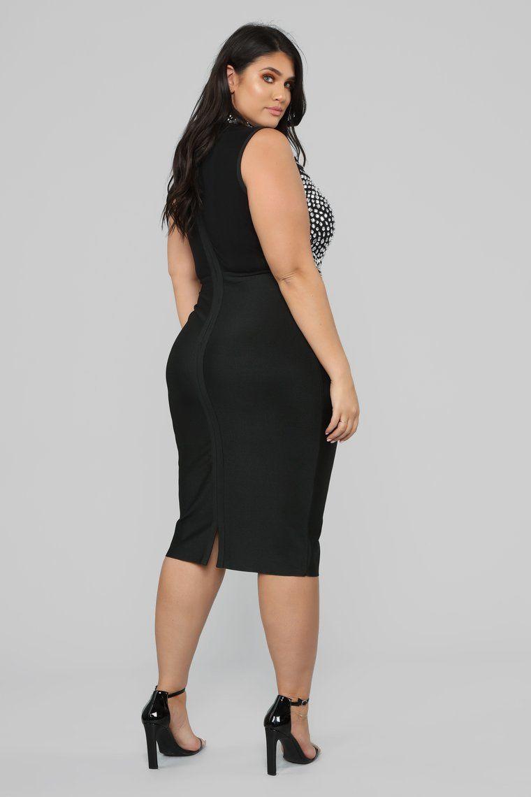 Blow Me A Kiss Rhinestone Dress Black In 2020 Dresses Curvy Outfits Rhinestone Dress [ 1140 x 760 Pixel ]