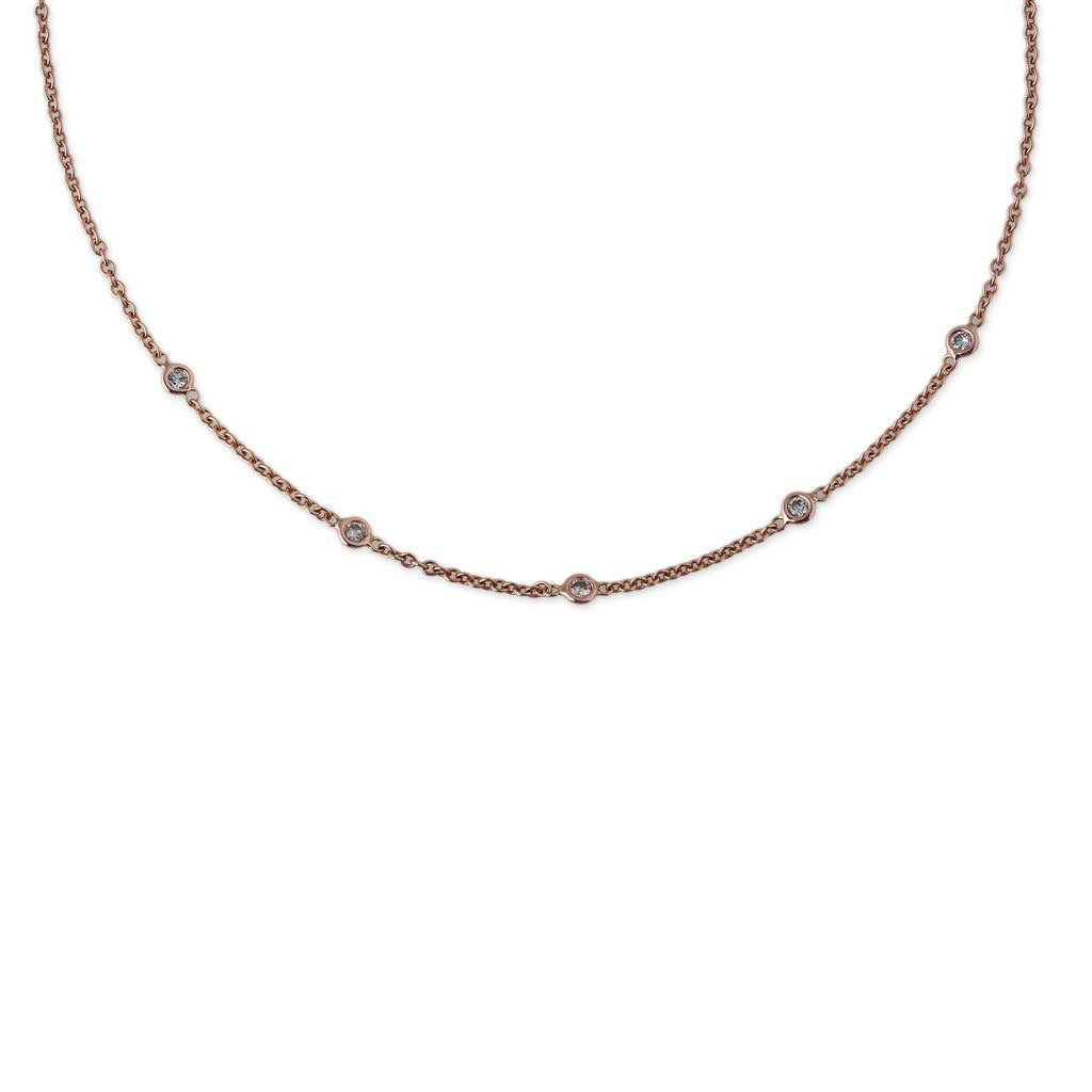 2946dbb56 5 SPACED OUT DIAMOND NECKLACE 11.5