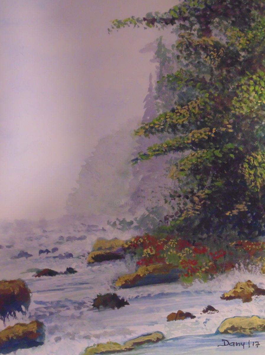 Sous Bois Peinture 30x21x0 1 Cm Par Daniel Halin Pas Loin Du