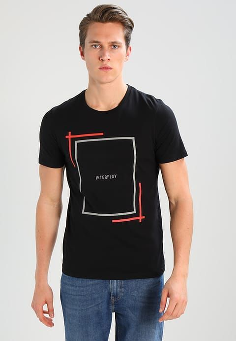 98256fc7a0 Jack   Jones JCONEWTIGER SLIM FIT - Print T-shirt - black - Zalando.co.uk