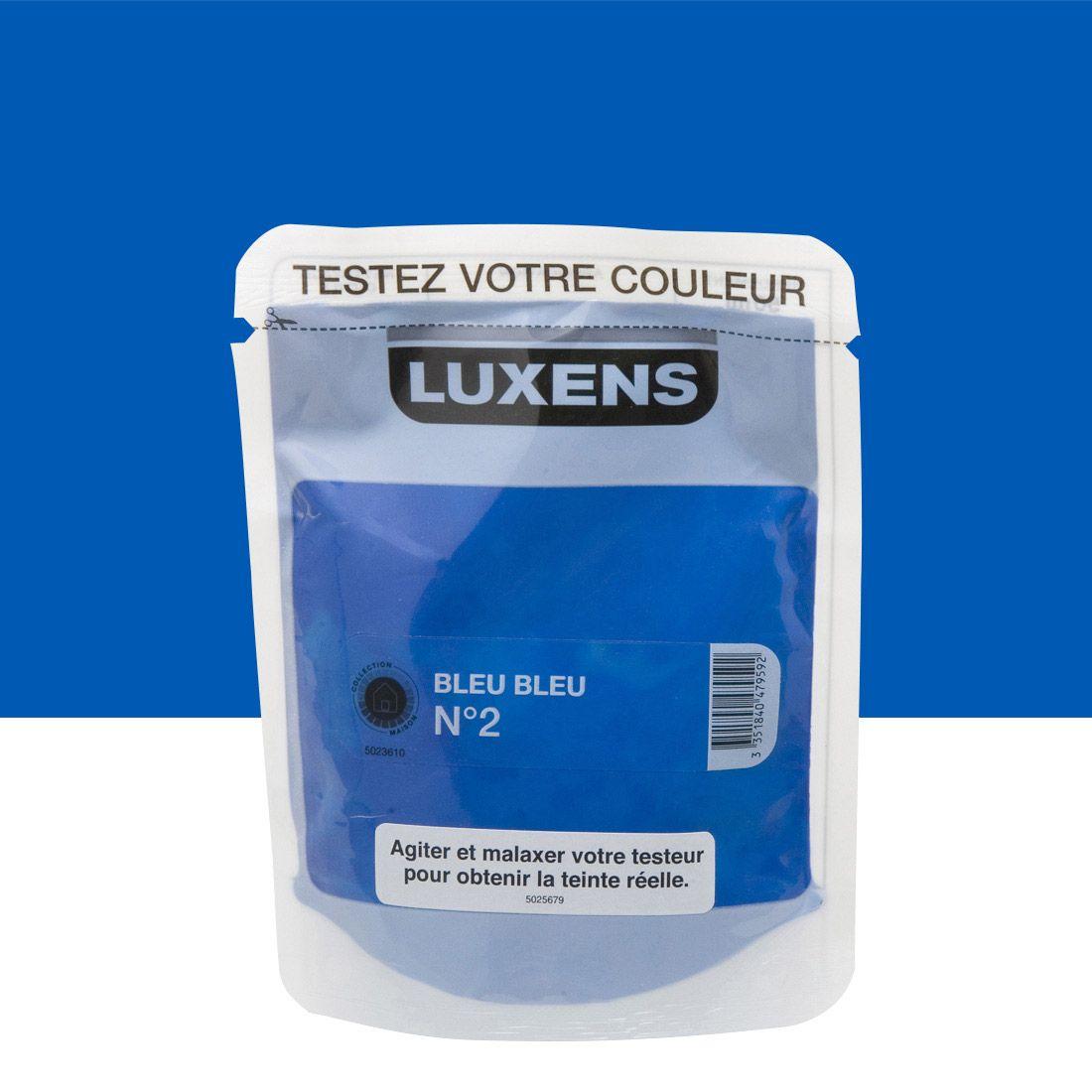 Testeur Peinture Couleurs Intérieures LUXENS, Bleu Bleu N°2 Satin, 0.05L (