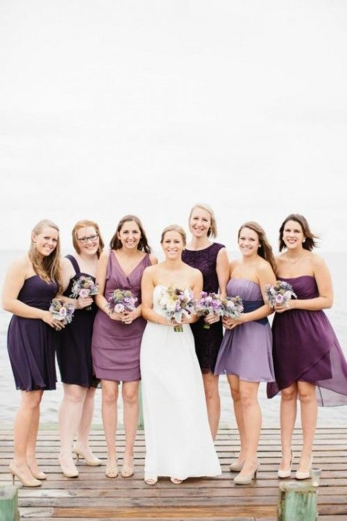 19 Luxurious Shades Of Purple Bridesmaids\' Dresses - Weddingomania ...