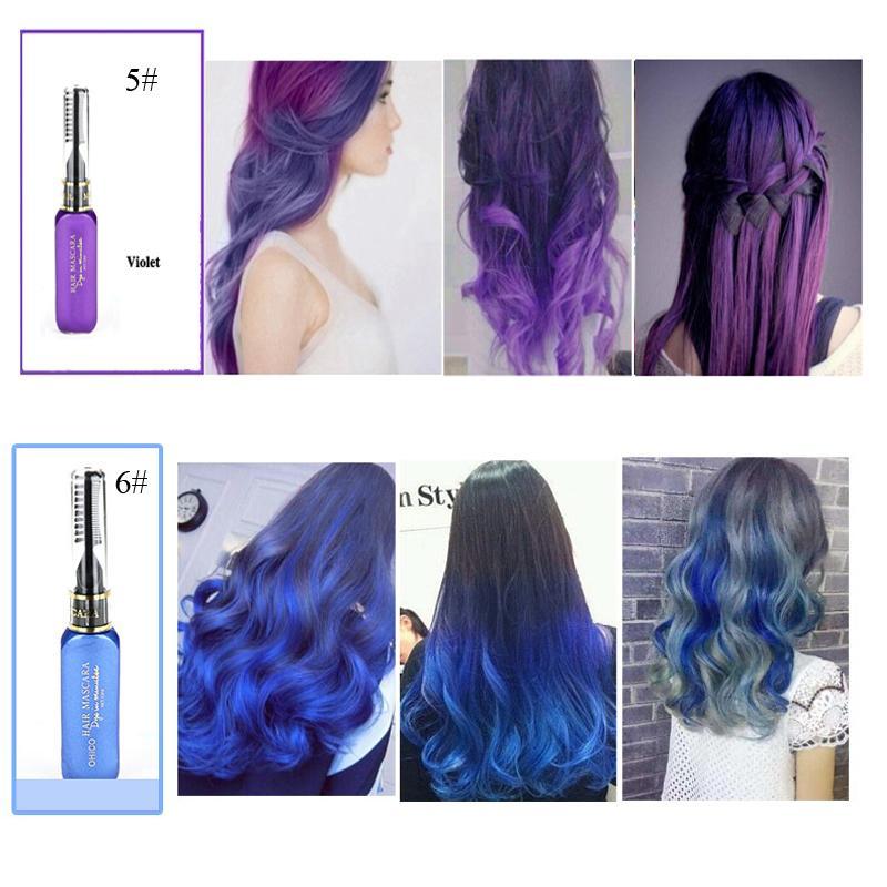 6ba7b0bb76e 13 Colors Temporary Hair Color Dye DIY Non-toxic Hair Tint Set 13 ...