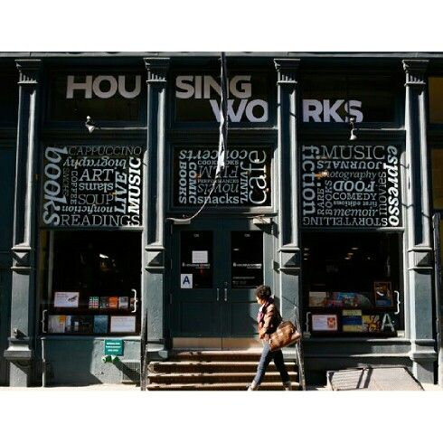 Non-Profit @HOUSINGWORKSBOOKSTORECAFE #CrosbySt #NYC  I absolutely love this kind of set up - #Books #Food #Music #Events - What more could you want? Here's what: ALL proceeds go towards helping #Aids and #Homeless #Charities #Brilliant!  Follow them on all social media.