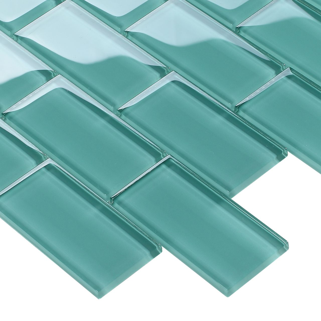 Turquoise Kitchen Wall Tiles: Subway Glass Tile Turquoise 2x4