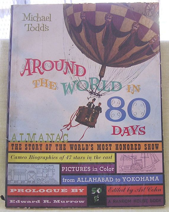 1956 Around The World In 80 Days Almanac Epsteam With Images