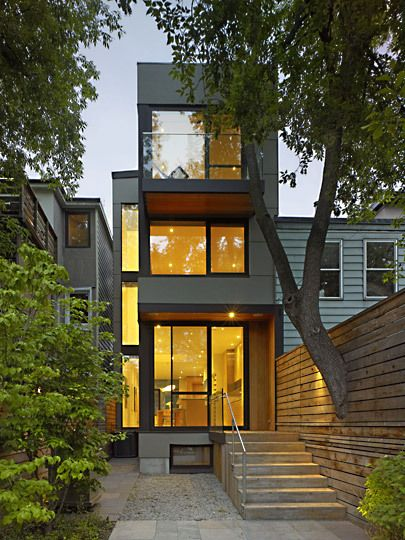51 Marlborough Ave By Superkul Architecture House Building A Container Home Container House Small house design toronto