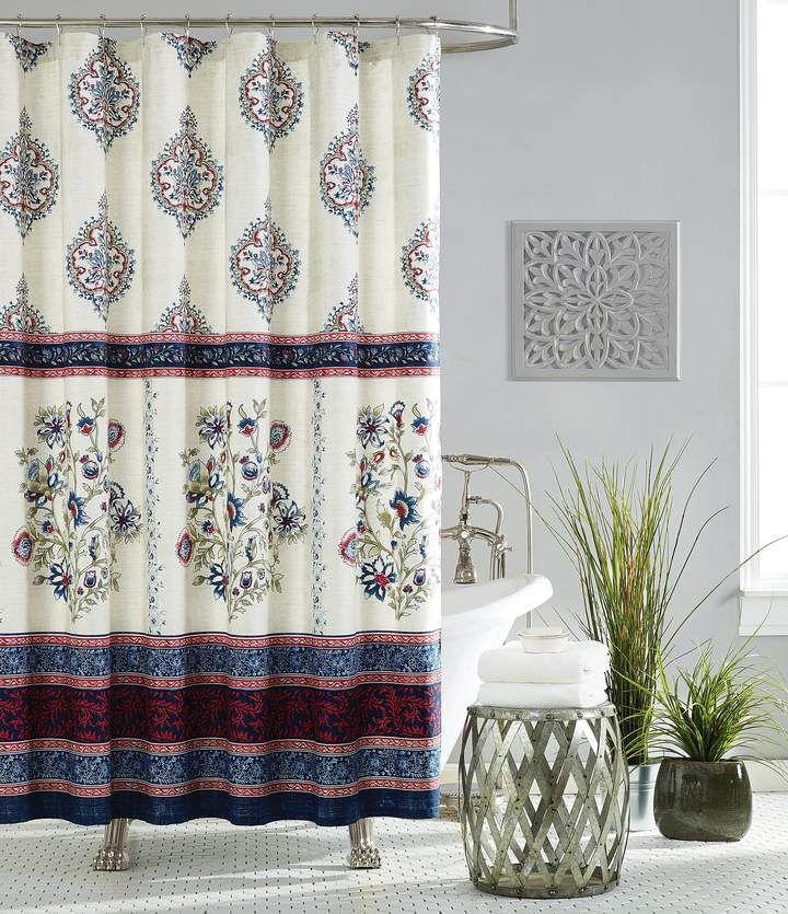 Jessica Simpson Verbena Patchwork Shower Curtain Jessica Simpson
