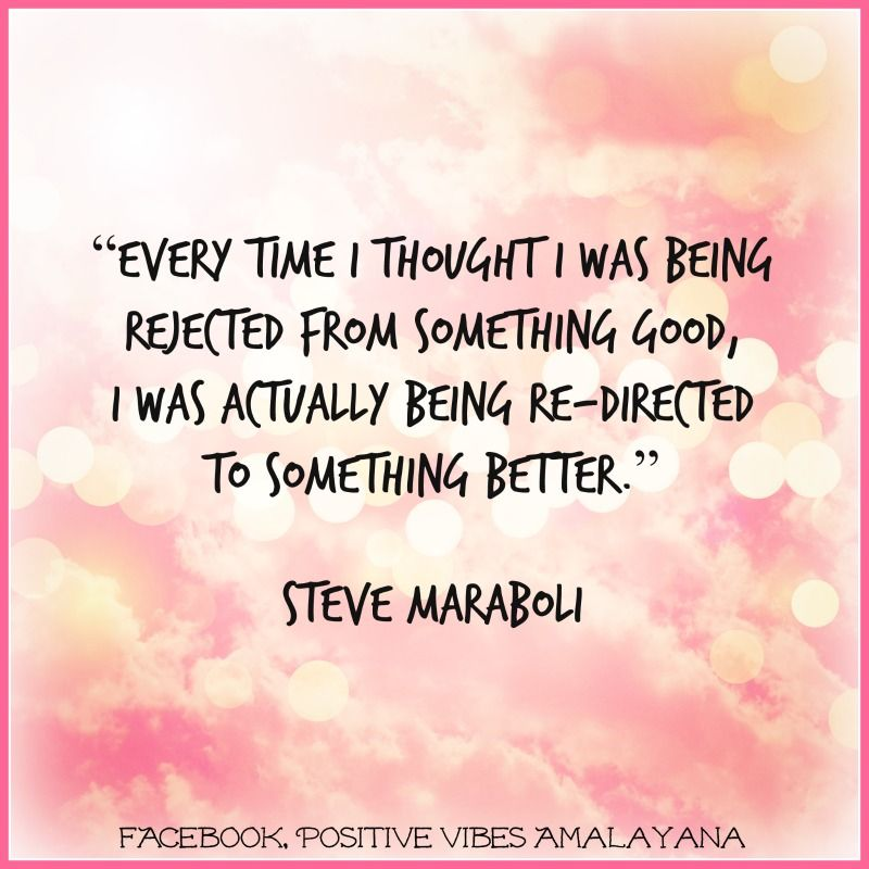 """""""Every Time I Thought I Was Being Rejected From Something"""