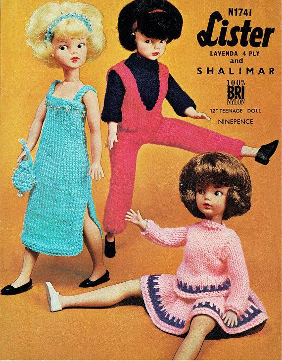 Pdf Vintage 1960s Sindy Barbie Doll Clothes Knitting Pattern