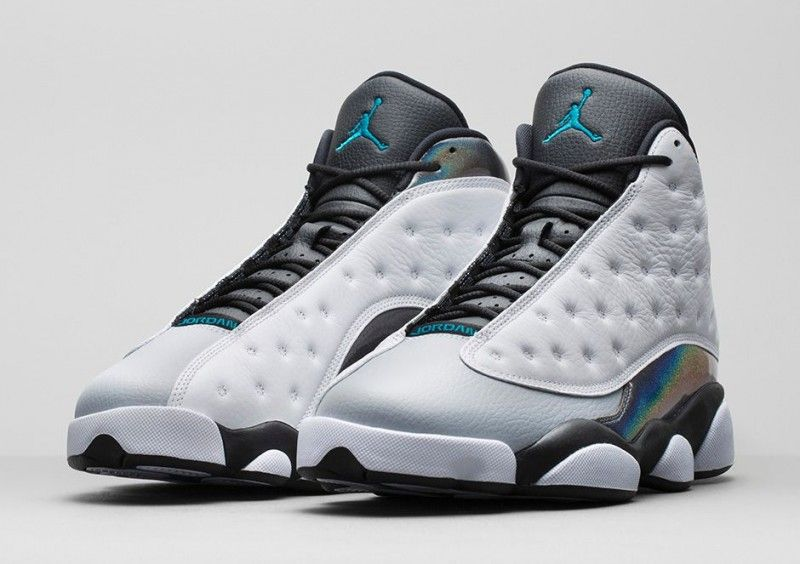 5d6fb3177b8 The newest color of the classic Air Jordan 13 Retro features a holographic  back heel piece along with the original hologram inspired by the black  panther ...