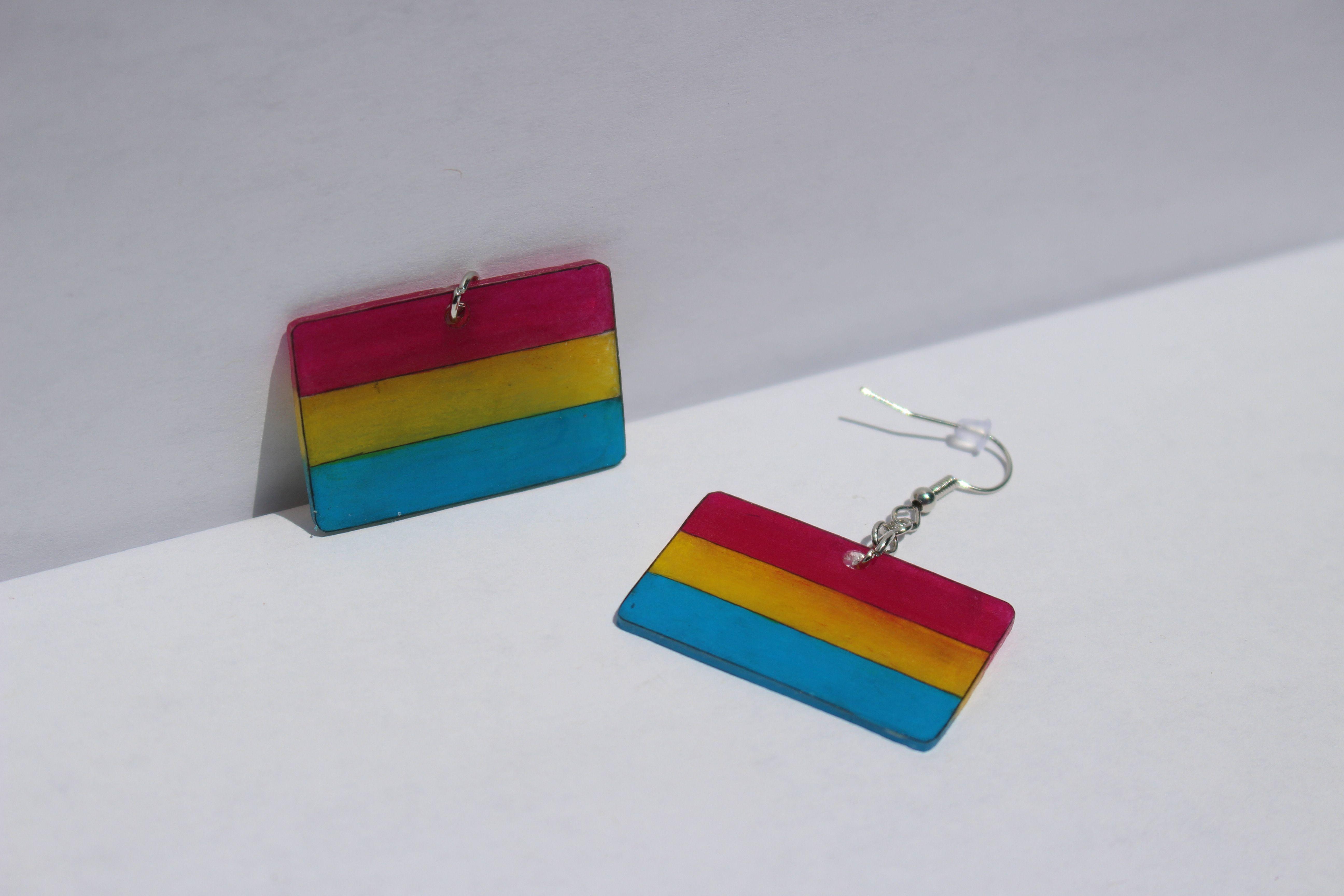 Handmade Pansexual Earrings