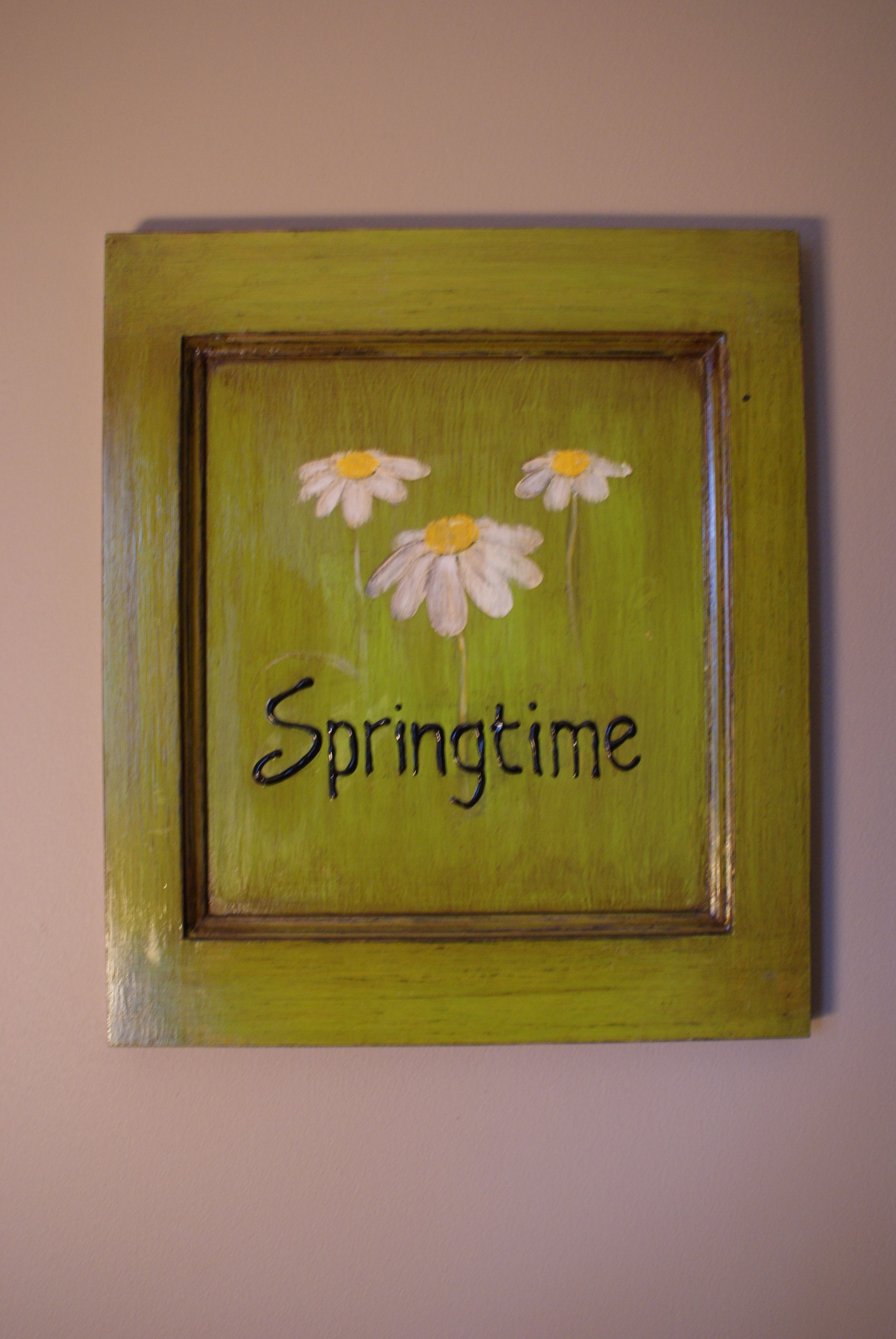 """Springtime!  Rustic decor to """"freshen"""" up the kitchen."""