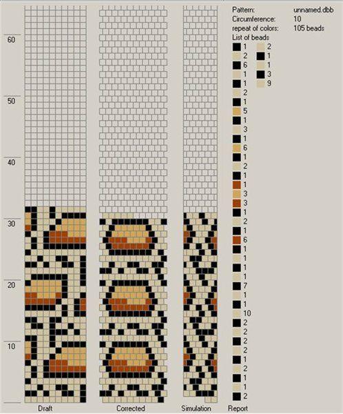 Схемы для жгута из бисера вязанного крючком