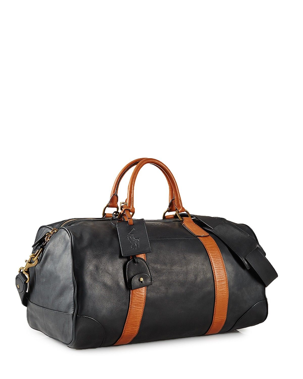 cb8f376473 Polo Ralph Lauren Two-Toned Leather Duffel Bag