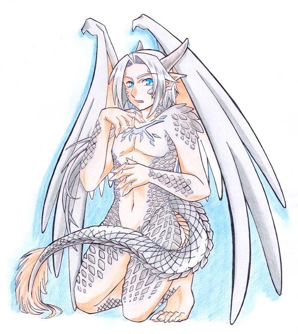 Half Dragon Ailyn By Karaya San On Deviantart Humanoid Dragon Dragon Girl Dragon Half